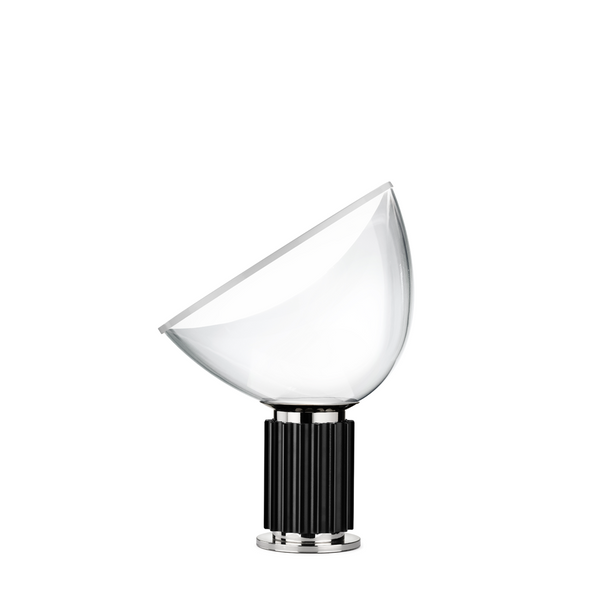 Flos - Taccia Small - Bordlampe - Alu/Glas - Sort - Ø37 cm