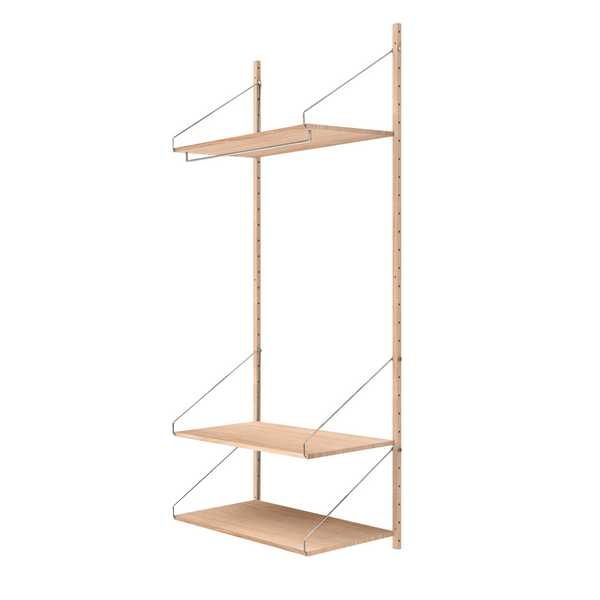 Frama - Shelf Library H1852 Hanger Section - Reol - Hvid eg