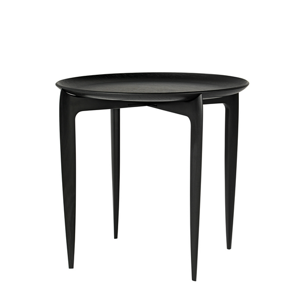 Fritz Hansen - Tray Table - Bakkebord - Sort eg - Ø45 cm