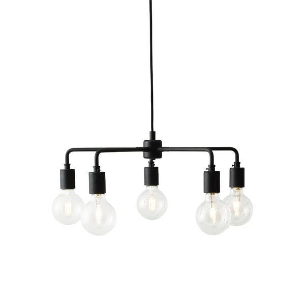 Menu - Leonard Chandelier - Sort stål - Ø46 cm