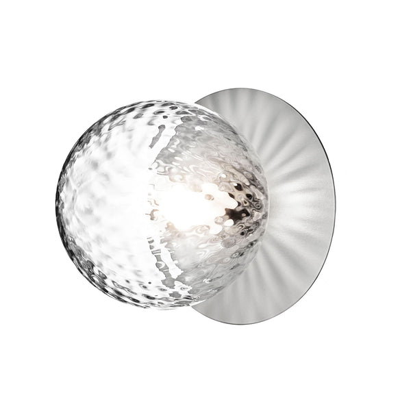 Nuura - Liila 1 - Væg/Loftlampe - Light silver/Optic Clear