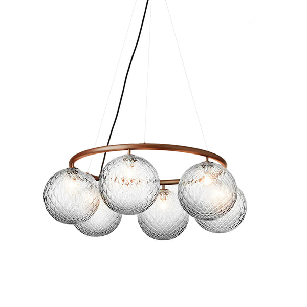 Nuura - Miira 6 Circular - Chandelier - Bronze/Optic - Ø80 cm