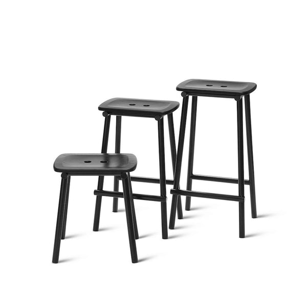 PWTBS - Tubby Tube Stool - Counter - Black - H65 cm