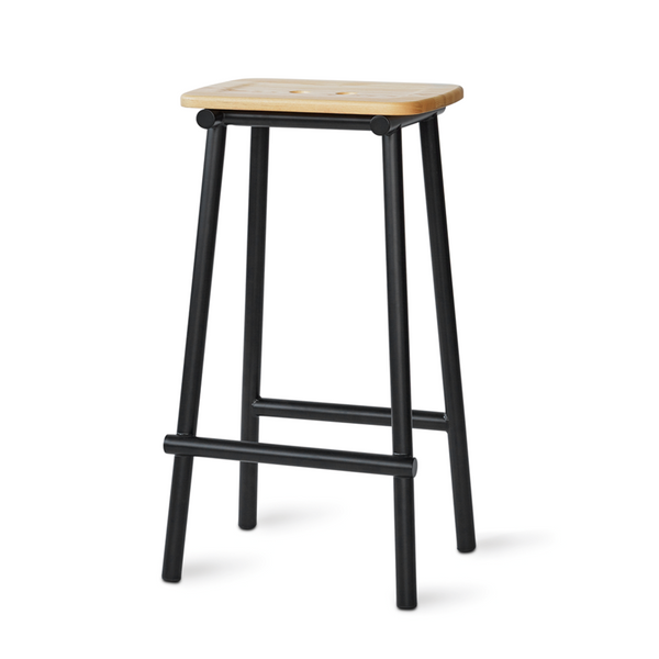 PWTBS - Tubby Tube Stool - Barstol- Ask - H75 cm