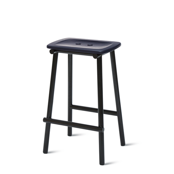 PWTBS - Tubby Tube Stool - Counter - Navy Blue - H65 cm