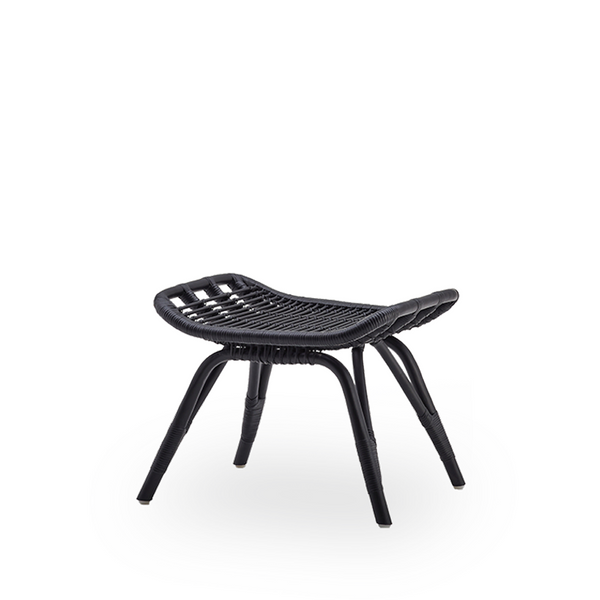 SIKA DESIGN Interior - Monet - Fodskammel - Sort Rattan