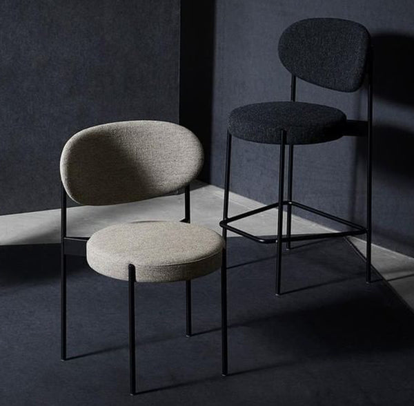 Verner Panton - Series 430 Dining Chair - Sort/Hallingdal Sand