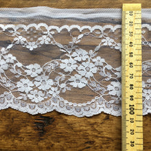 Load image into Gallery viewer, White Floral Lace Trim
