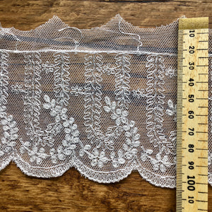 Ivory Antique Style Embroidered Lace