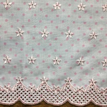 Load image into Gallery viewer, Pink Spot Broderie Trim