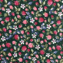Load image into Gallery viewer, Green Ditsy Floral Cotton Fabric 1.65m