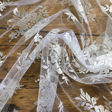 Load image into Gallery viewer, White Floral Bridal Lace