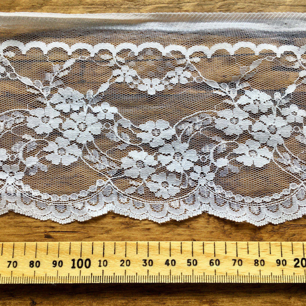 White Floral Lace Trim