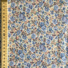 Load image into Gallery viewer, Pastel Blue Floral Cotton 2.2m