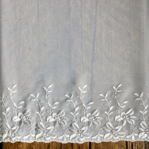 Ivory Embroidered Georgette Trim