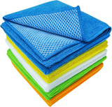 S&T INC. 598501 Dish Cleaning Cloth with Poly Scour Side, 10 Pack, Assorted