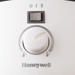 Honeywell HCE200W UberHeat Ceramic Heater White Energy Efficient Space Saving Portable Heater With 2 Heat Settings & Adjustable Thermostat for Living Room, Bedroom, Office