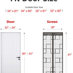 Insulated Door Curtain - Thermal Magnetic Self-Closing Privacy Door Screen Winter Stop Draft Keep Cold Out Door Cover for Patio, Kitchen, Bedroom, Air Conditioner Room(36 x 82 inch, Grey)