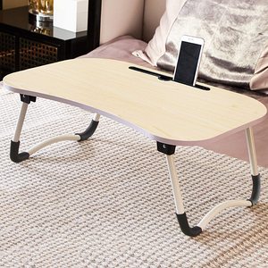 Adjustable Laptop Bed Table Lap Desk, Portable Bed Tray Table for Couch and Sofa, Breakfast Tray Dining Table, Folding Dormitory Table Notebook Stand Reading Holder for Couch Floor Kid (23.6 x 15.7in)