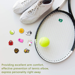 Outus 21 Pieces Tennis Racket Vibration Dampener Tennis Dampeners Racket Shock Absorbers Soft Silicon Racket Dampener for Racquetball