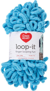 RED HEART E884.9314 Loop-It Yarn, School of Rocks