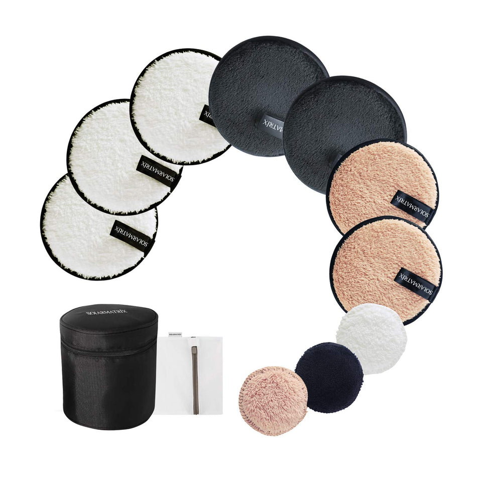 Reusable Makeup Remover Pads: 7-Pack ( 3.7inch) Coming with Laundry Bag, Travel Bag and 3 Eye Pads - Soft Chemical-free Facial Cotton Pads- Perfect for Facial Cleansing