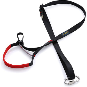 Adjustable Climbing Ascender Sling Foot Loop Ascender Webbing Sling for Outdoor Mountaineering, Rock Climbing, Expedition, Caving, Rescue and Aerial Work