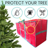 Christmas Tree Storage Bag - Extra Large Xmas Tote Fits 7.5 ft Artificial Fake Tree - Best for Holiday Storage