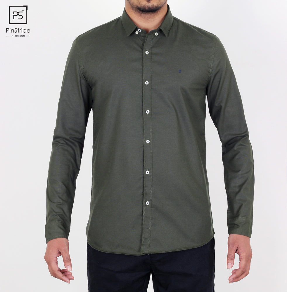 Basil Green - Oxford Casual Shirt