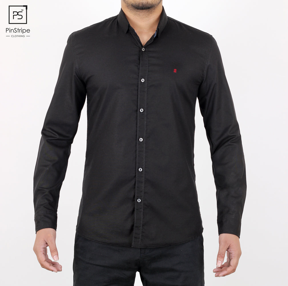 Oreo Black - Oxford Casual Shirt