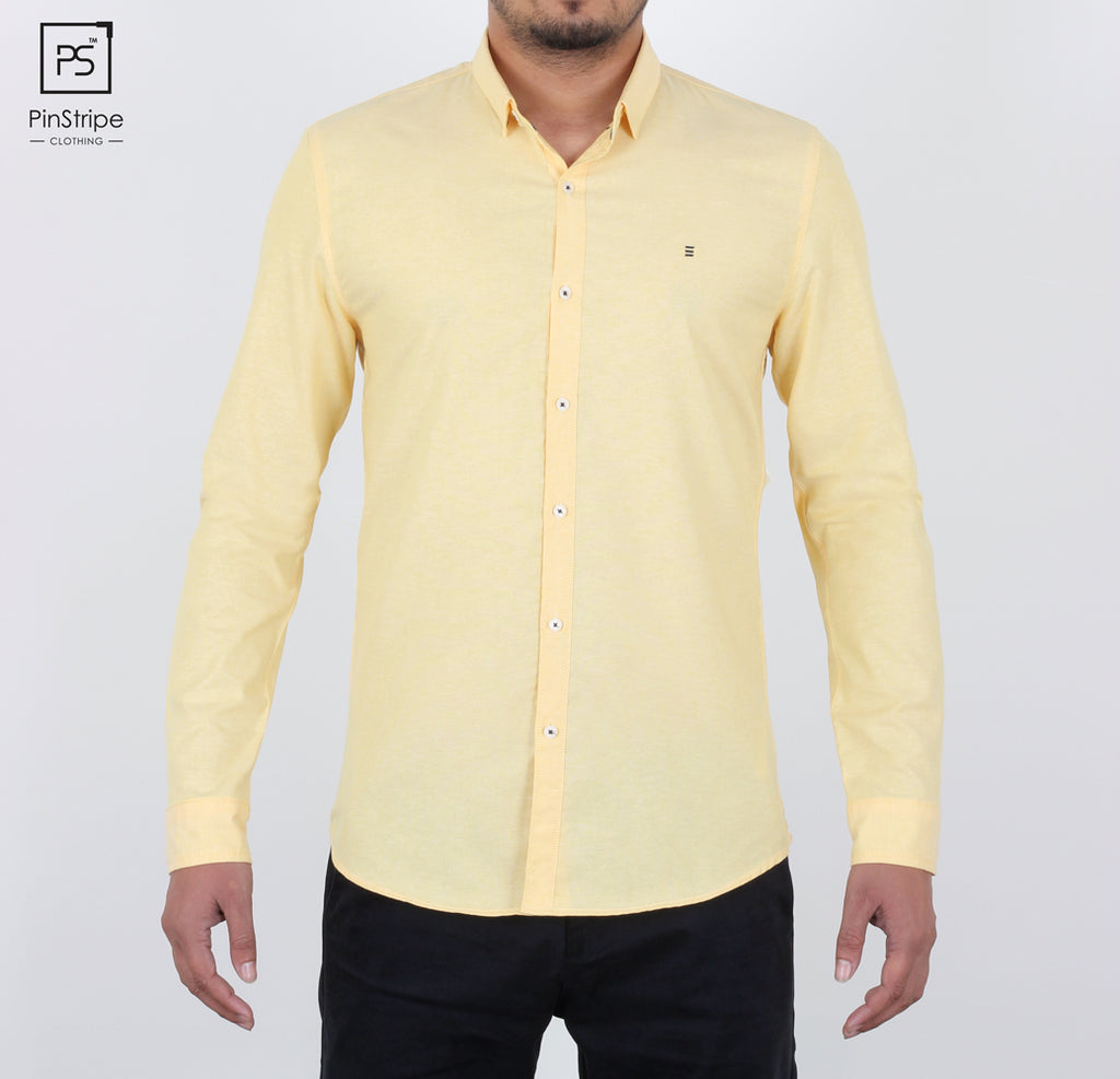 Butter Yellow - Oxford Casual Shirt