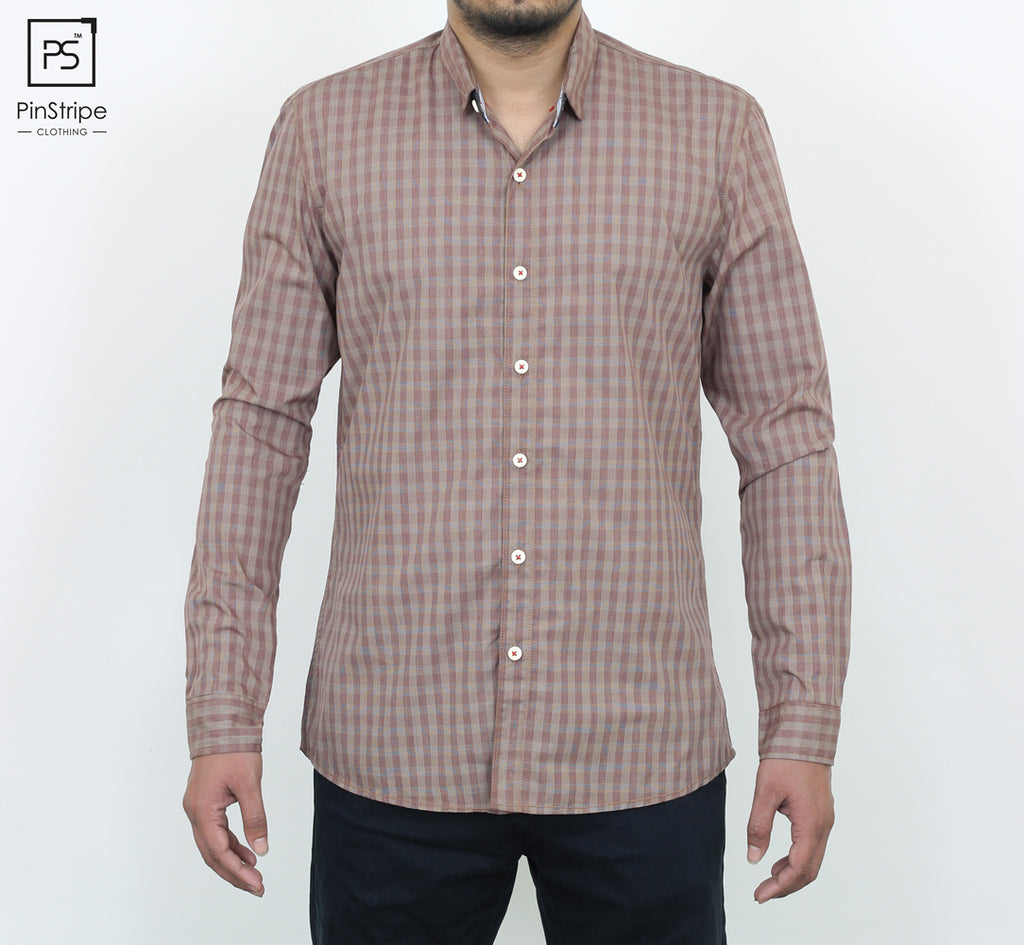 Melon 4 dot check - 100% cotton