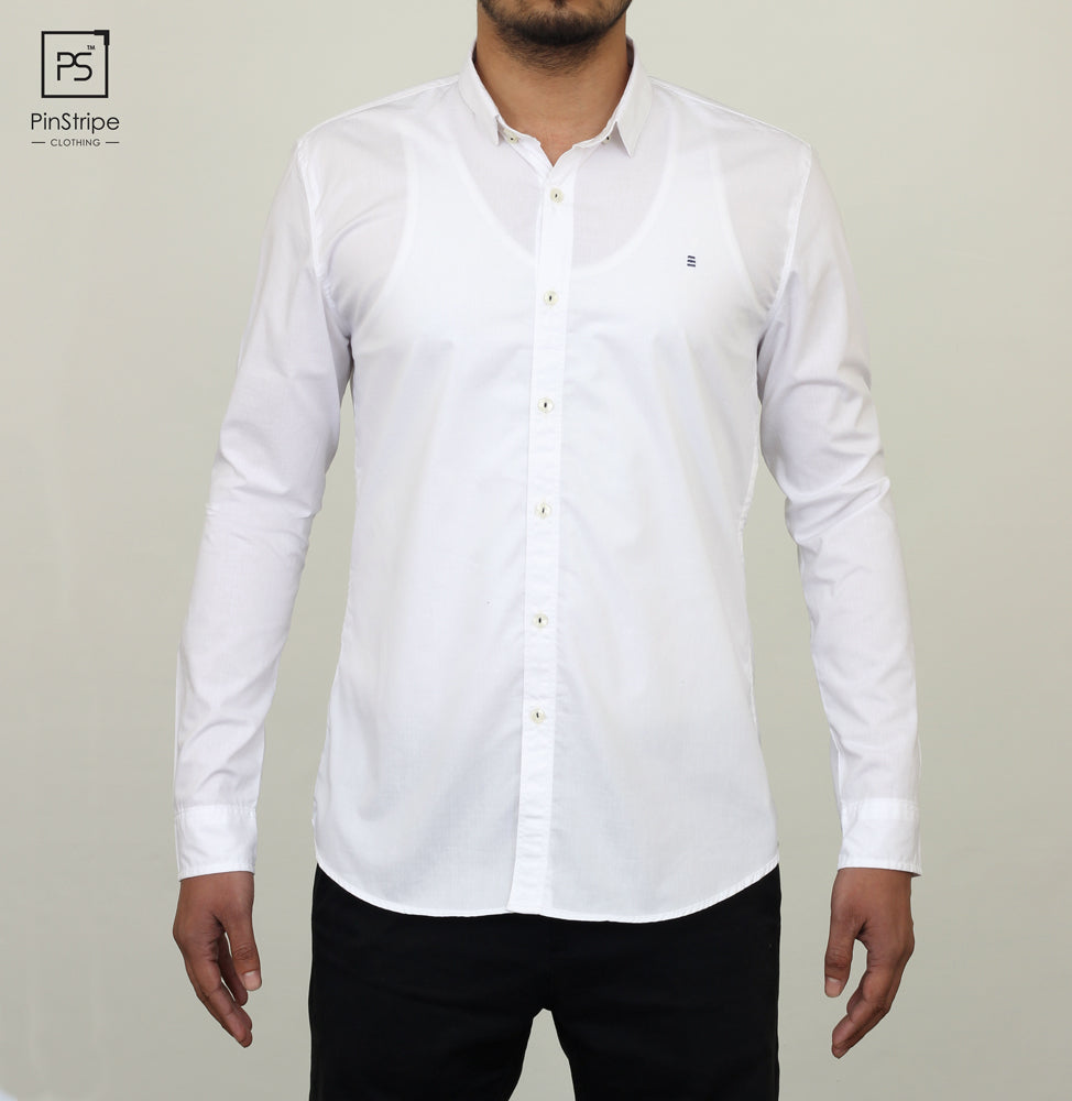 Milky White - Oxford Casual Shirt