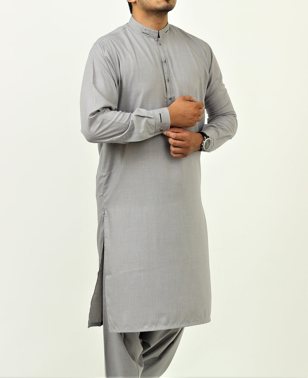 Cloud Grey - Designer Shalwar Qameez