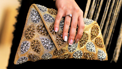 Golden Hand bag