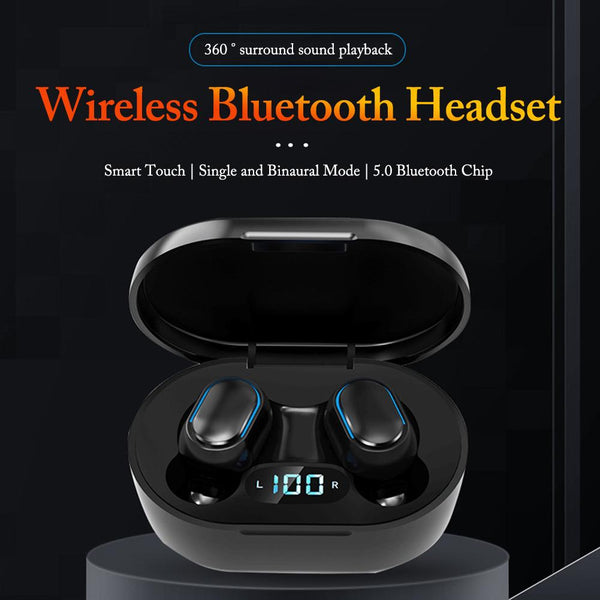 Adaz A7S Noise Cancelling Earbuds with LED Display Screen