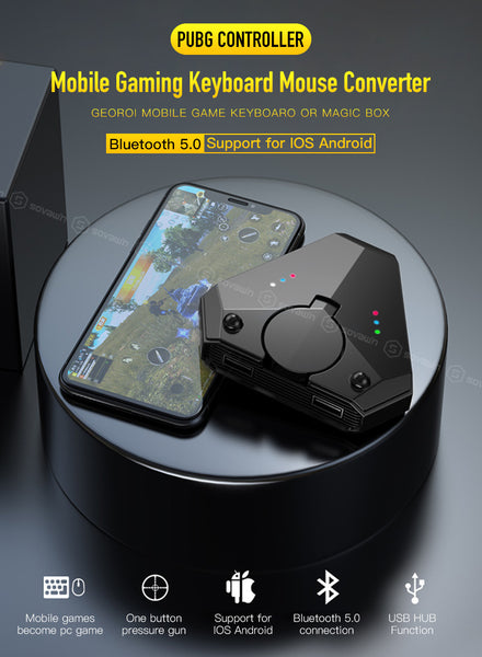 Adaz Gamepad Mobile PUBG Controller Mobile Controller Gaming Keyboard Mouse Converter For Android iOS iPad to PC