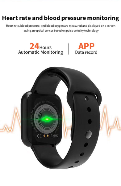 Adaz A68 Smartwatch: Pedometer, Fitness Tracker & Health Monitor