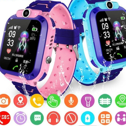 Adaz Children's Smart Watch With Sim Card, GPS SOS Locator, Waterproof For iOS Android