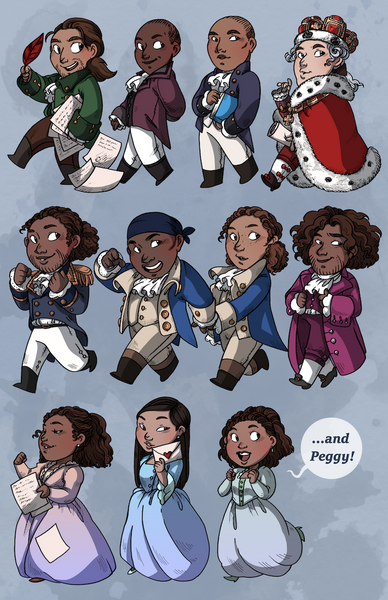 Hamilton cast ... and Peggy!