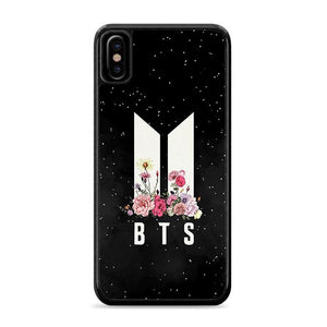 Army BTS Floral iPhone XS HÜLLE