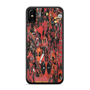 Deadpool Comic Collage iPhone XS Max HÜLLE