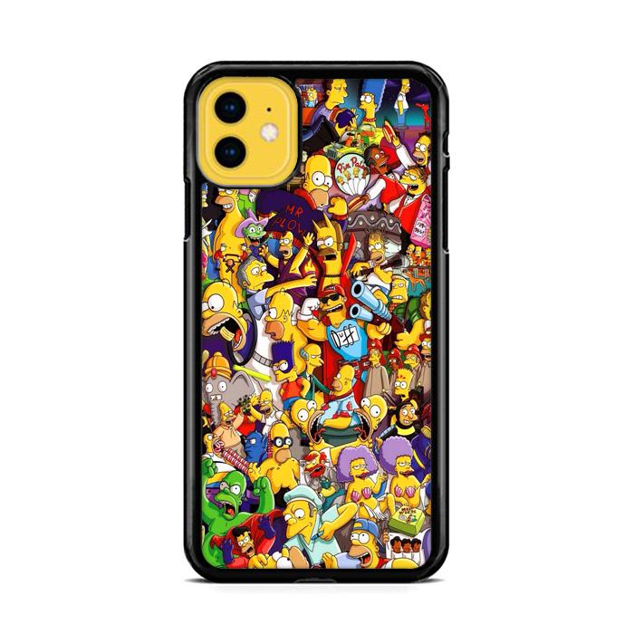 All Simpson Characters iPhone 11 HÜLLE
