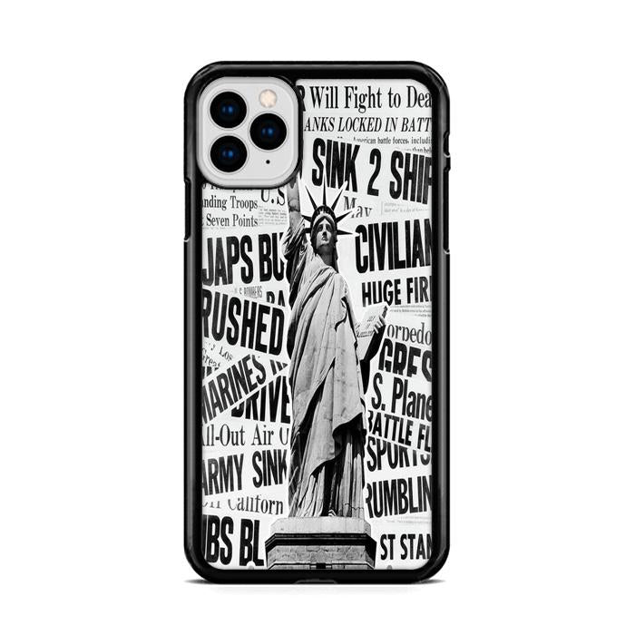 1940s Montage of World War II Headlines Statue of Liberty iPhone 11 HÜLLE Pro Cases