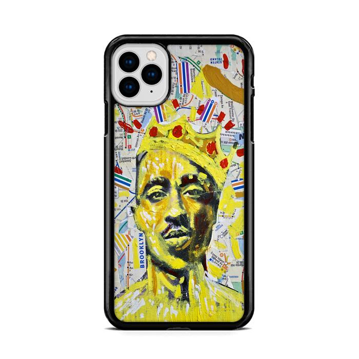 2Pac Tupac Crown NYC MTA Map iPhone 11 HÜLLE Pro Cases