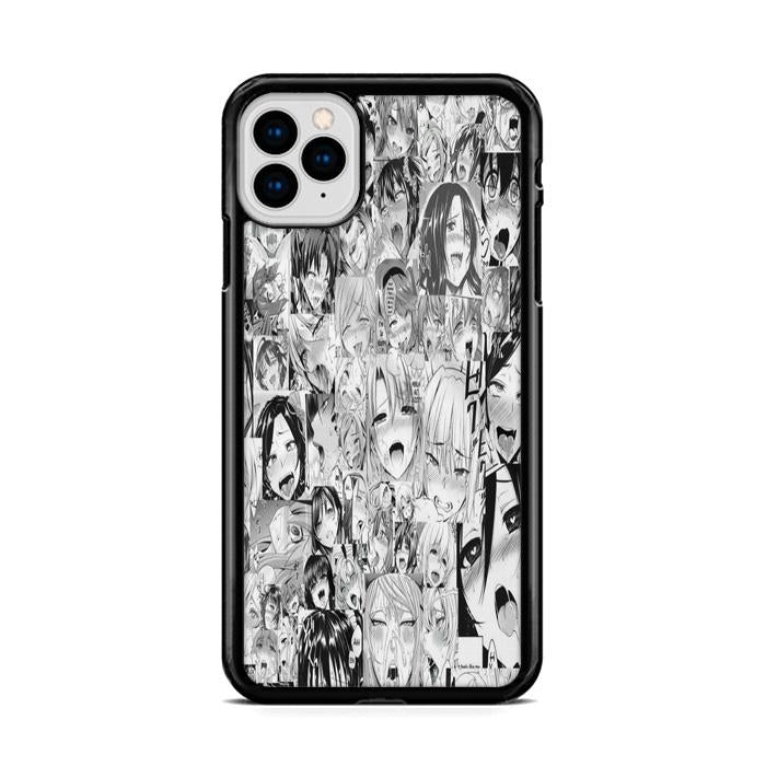 Ahegao Pervert Face Collage iPhone 11 HÜLLE Pro Cases