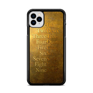 American Musical Hamilton One To Nine iPhone 11 HÜLLE Pro Cases