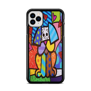 Art Britto Pet Dog iPhone 11 HÜLLE Pro Cases