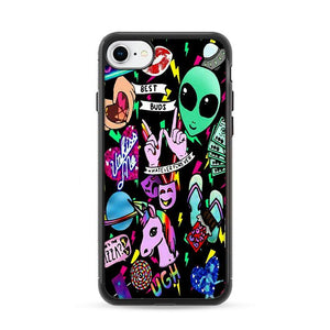 Alien Unicorn Collage Art iPhone 7 Cases | Rowlingcase