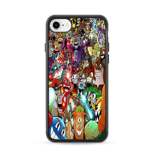 Cuphead All Characters Poster iPhone 8 Cases | Rowlingcase